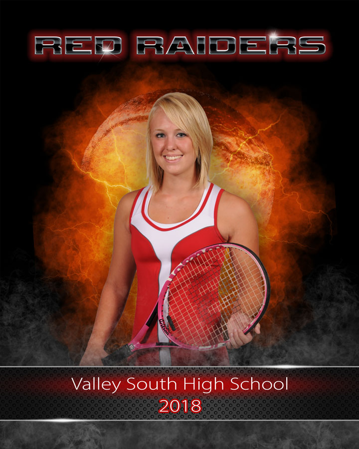 Photoshop templates for sports and portrait photography - tennis