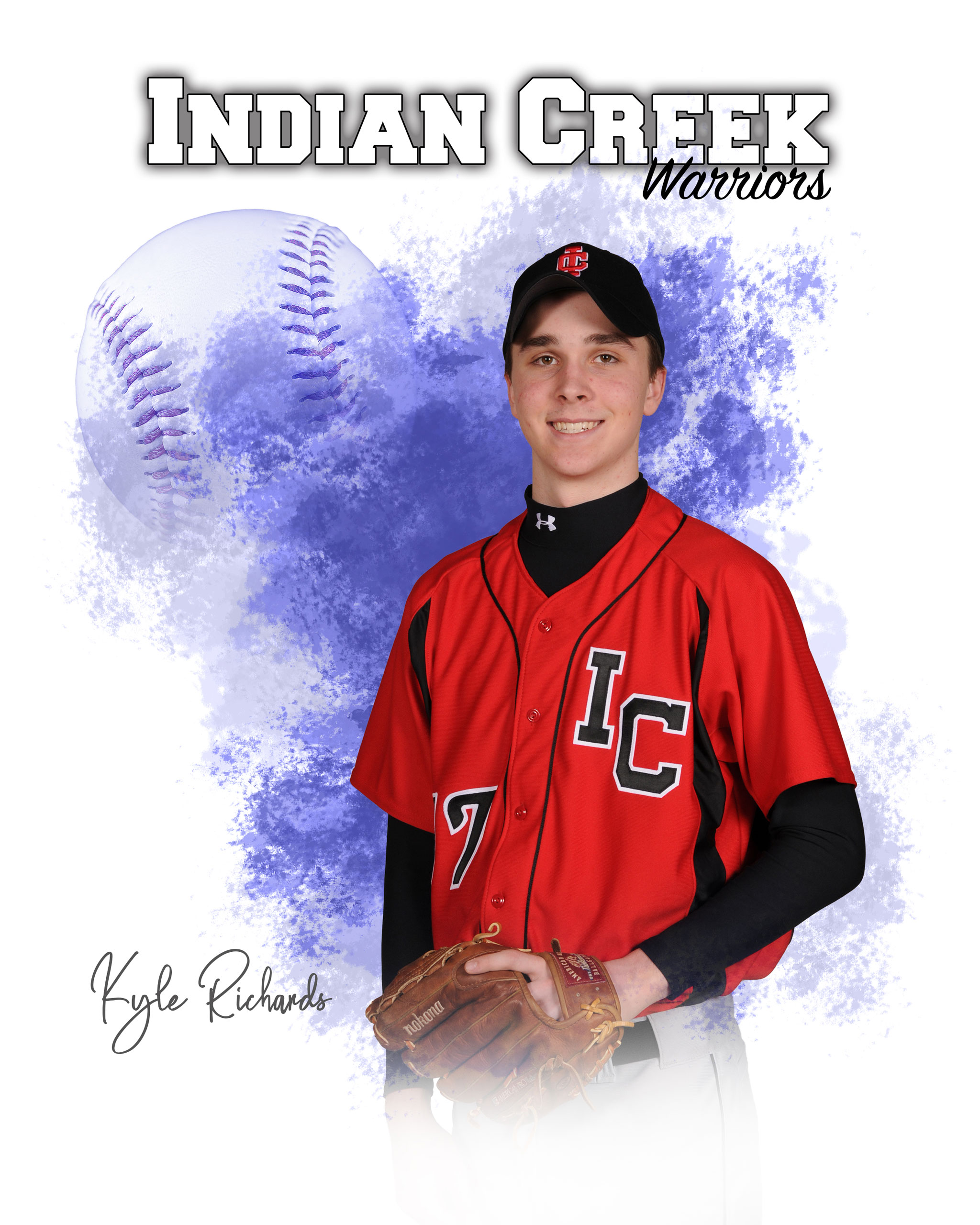 Photoshop templates for sports and portrait photography - baseball